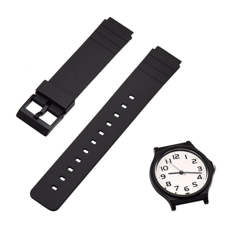 2019 Watch Band Strap Pin Buckled TPU Wristwatch Bands Replacement Accessories For Casio MW-59 MQ-24 MQ-71 MQ-76