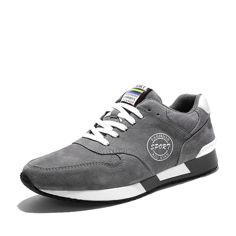 Nouveau Cuir Véritable de Vache Chaussures Hommes Sport Chaussures de Course Respirant Jogging Marche Hommes Formateurs de marche Chaussures Hombre Femme