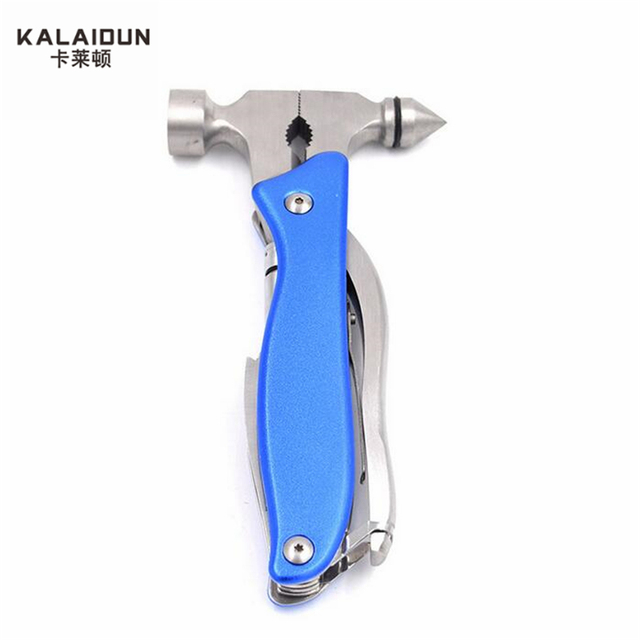 KALAIDUN  Multifunctional Claw Hammer hand tools Outdoor Survival Pliers Safety Glass Window Breaking  safety hammer