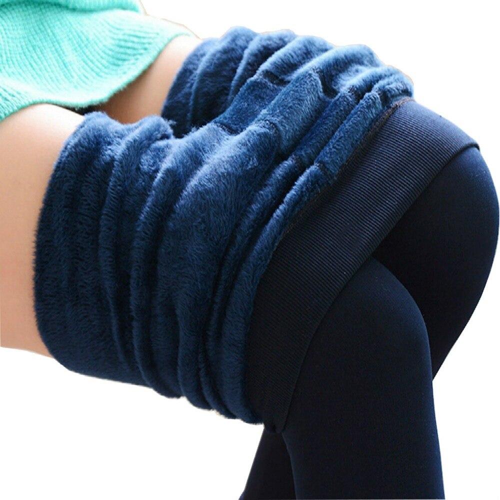 Mollad 2016 NEW plus cashmere leggings women girls Casual Warm Winter Bright Velvet Knitted Thick Slim Legging Super Elastic