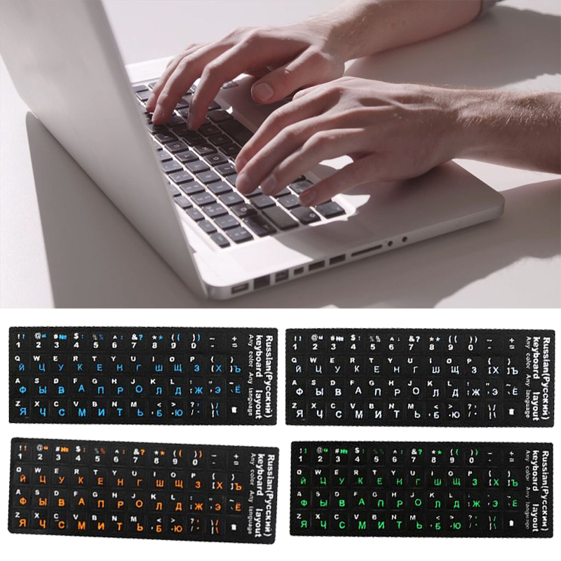 Russian Fluorescent <font><b>Keyboard</b></font> Cover <font><b>Stickers</b></font> For <font><b>Mac</b></font> Book Laptop PC Computer Standard Letter Replacement <font><b>Keyboard</b></font> Covers Film image