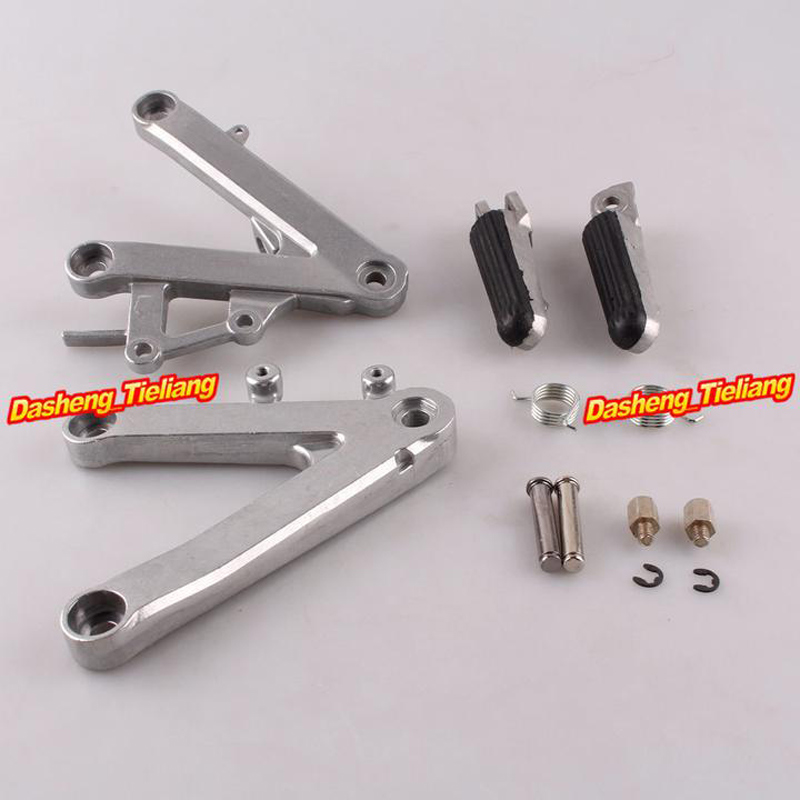Aluminum Alloy Front Rider Foot Pegs Footrest Brackets For HONDA 1990-1997 CBR250 MC22, Motorcycle Spare Parts Accessory