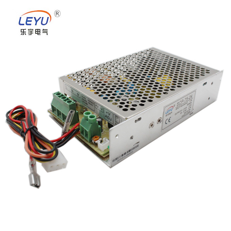 SCP-75-24 Universal input ups charging switching power supply,75w 24v(27.6v) 2.7A battery backup charging SMPS hot sell to Europ 12v 10a charge type ups switching power supply 120w for battery charging charging current 0 5v free shipping