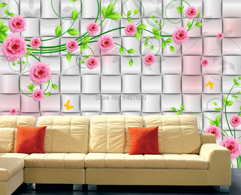 N Beibehang Rosas Personalizado Parede Foto Papel De Parede 3d  ~ Mural De Fotos Na Parede Do Quarto