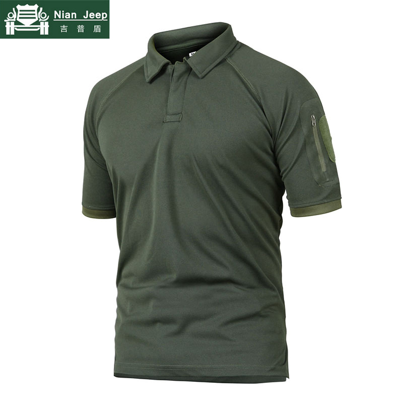 Tactical   Polo   Shirt Men Summer Short Sleeve Army Camo Military Mens   Polo   Shirt Breathable Quick Drying Arm Pocket   Polo   Shirts