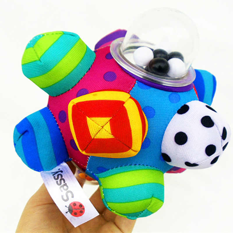 Pumpy Ball Cute Plush Soft Cloth Hand Rattles Bell Training Grasping Ability Toy