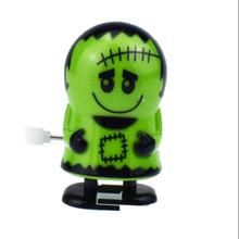 iWish Halloween Wind Up Green Ghost Goblin Zombies Jump Vampire Winding Walking Frankenstein Jumping Kids  Toys All Saints' Day iwish halloween wind up on the chain jump ghost white human skeleton jumping human skull for children toys all saints day gift