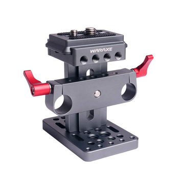 Universal Lift Style ARCA Swiss CLAMP QR Base Quick Release Plate with 15MM Rod Hole for Camera Cage rig Accessories