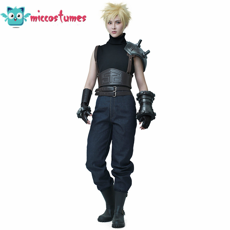 Anime Final Fantasy VII Remake Cloud Strife Cosplay Costume Halloween Party Men Outfits