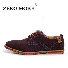 Zero более 2017, Новая мода Мужская обувь замшевые оксфорды для мужчин Натуральная кожа Мужская Повседневная обувь Мужские кожаные туфли 6 цветов