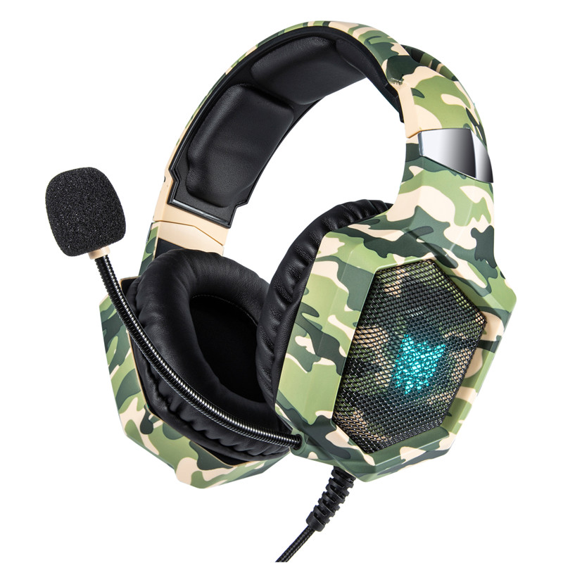 ONIKUMA K8 Camouflage casque PS4 Gaming Headset PC Gamer Bass Earphones Headphone with Mic for Mac Nintendo Switch New Xbox One
