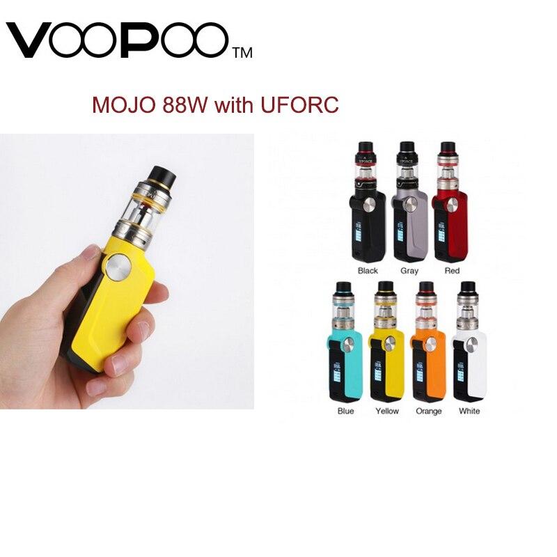 Kit de Vape d'origine 88 W VOOPOO MOJO 2600 mAh batterie Mod avec gène de réservoir UFORCE h3.5ml. Kit de Vape Ecig de puce de ventilateur VS Kit de Mod de traînée