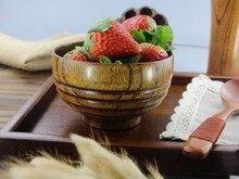1PC Japanese Tableware Eco-Friendly Screw Wooden Bowls Household Kitchen Salad Bowl Rice Soup Bowl Kitchen Bowl LC 015