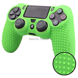 Image 5 - For Sony Dualshock PS4 DS4 Slim Pro Controller Silicone Case Protective Skin + Thumb grips Caps for Play station 4