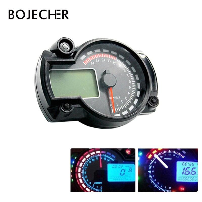 Universal Motorcycle Lcd Digital Speedometer Odometer With