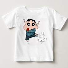 Summer Children Funny Crayon Shin Chan T Shirt Cute and Dog Cartoon Tee Harajuku Tops Minecraft Unisex Fashion