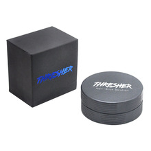 FHRESHER Aircraft Aluminum Smoking Herb Grinder 56MM 2 Piece With Sharp Diamond Teeth Tobacco  Grinders Accessories