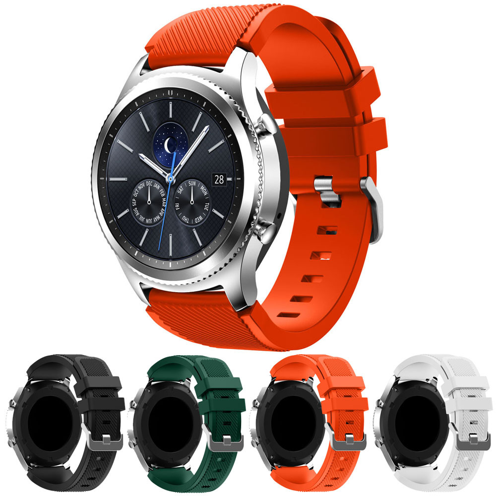 New Fashion 20mm silicone watch bands strap Sports Soft Silicone Bracelet  Strap Band For Samsung Gear S3 Classic reloj