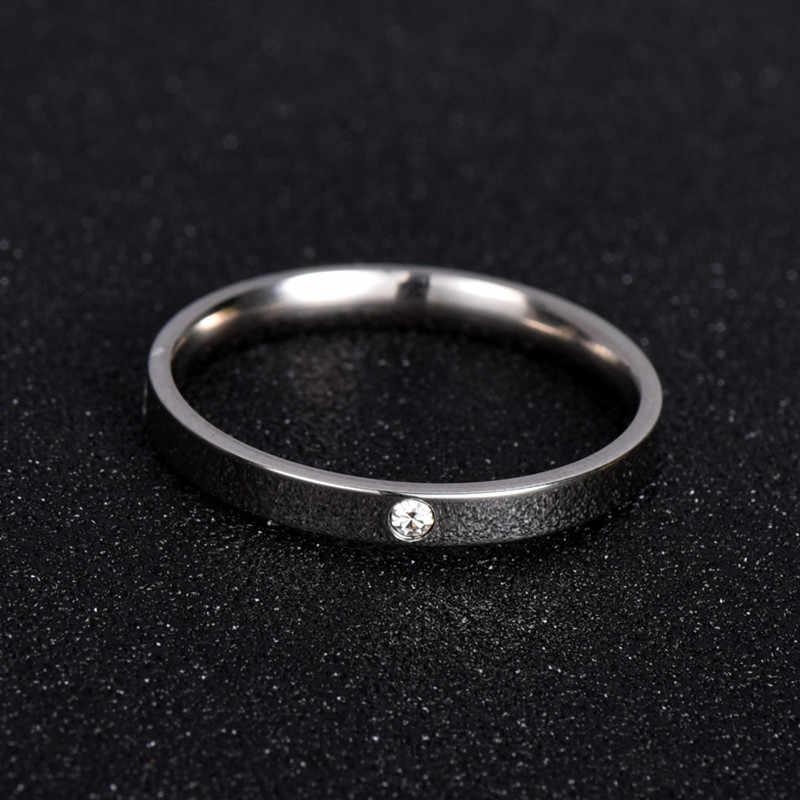 Модные ювелирные изделия циркония классическое обручальное кольцо для женщин или мужчин вечность любовь 316L кольца из нержавеющей стали подарок никогда не выцветает nj201