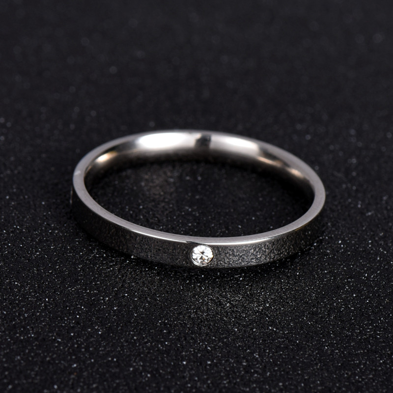Fashion Jewelry Zirconia Classic Wedding Ring For Women Or Man Eternity Love 316L Stainless