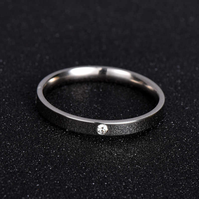 Fashion Jewelry Zirconia Classic Wedding Ring For women or man Eternity Love 316L Stainless Steel Rings Gift Never Fade  nj201