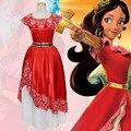 Красное платье для косплея принцессы Елены для женщин; карнавальный костюм принцессы Елены для взрослых; нарядное платье для ролевых игр; к...