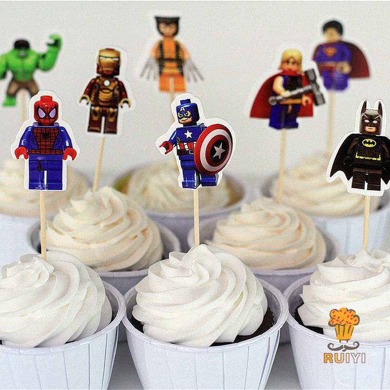 48 Pièces Cake Design, Pâtisserie Cas De Cupcake De Rocket De Premier Articles Ménagers Et Toppers