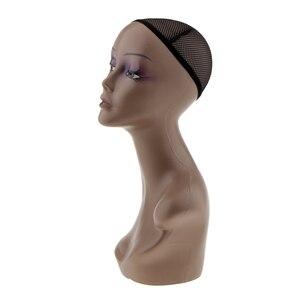 Image 3 - Femme Mannequin tête buste perruque chapeau bijoux collier Salon affichage modèle Mannequin et Net casquette bijoux chapeau affichage modèle