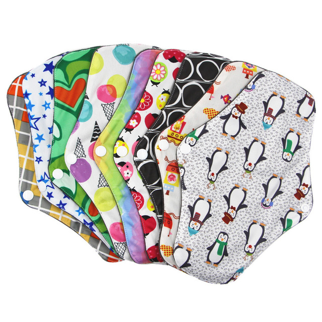 Soft Women Towel Pads Bamboo Cotton Feminine Absorbent Menstrual Cloth Washable Reusable Panty Liner Hygiene Sanitary Period 1