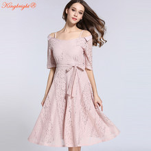 63503999ce4e King Bright Summer Dresses Women 2017 High Quality Women's Sexy Off The  Shoulde Lace Mid-