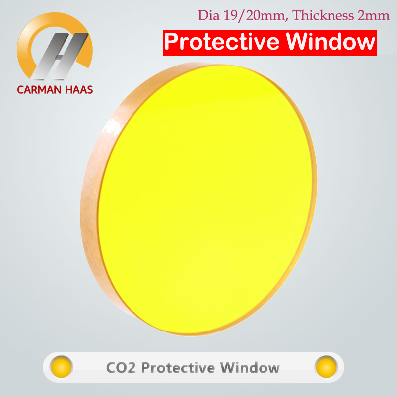 Carmanhaas CO2 ZnSe Laser Protect Window Lenses Protective Glass For Laser Cutting Machine Dia 19/20mm Thick 2mm low price quartz dia 48mm thick 3mm 1064nm protective window for engraved christmas ornamemts rubber stamp machine