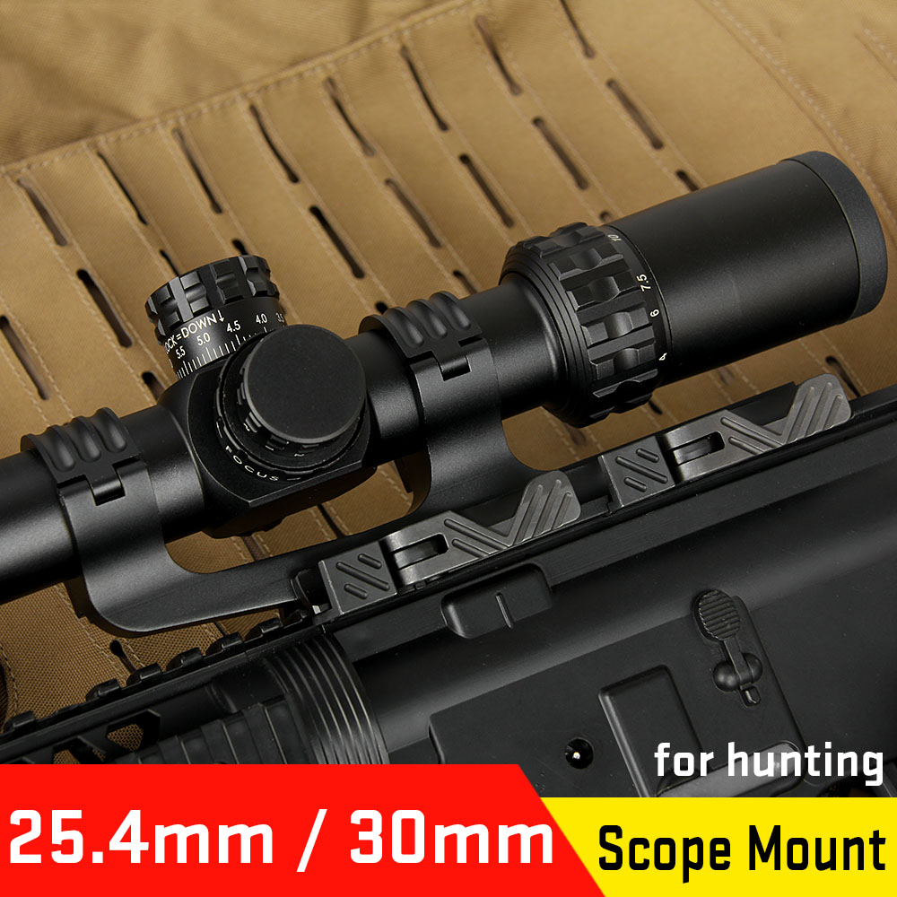Canis Latrans Quick Detached QD Dismantling 25.4 To 30MM Double Ring Scope Mount Fit 21MM Rail For Rifle Scope HS24-0178
