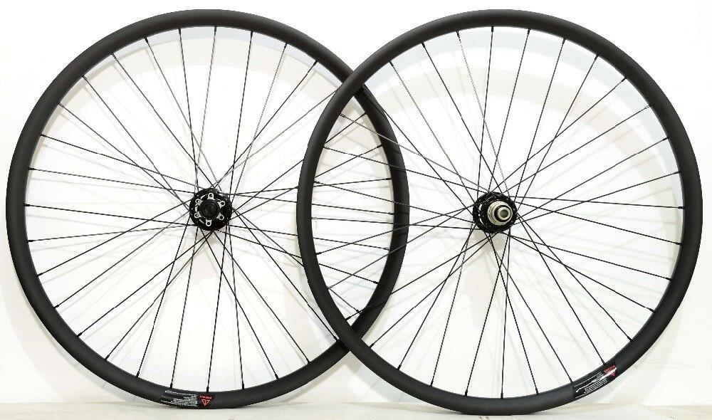 27.5ER 2.6mm off set asymétrique 30*24 VTT XC Hookless Roues En Carbone super léger Montagne vélo tubuless prêt de carbone roues