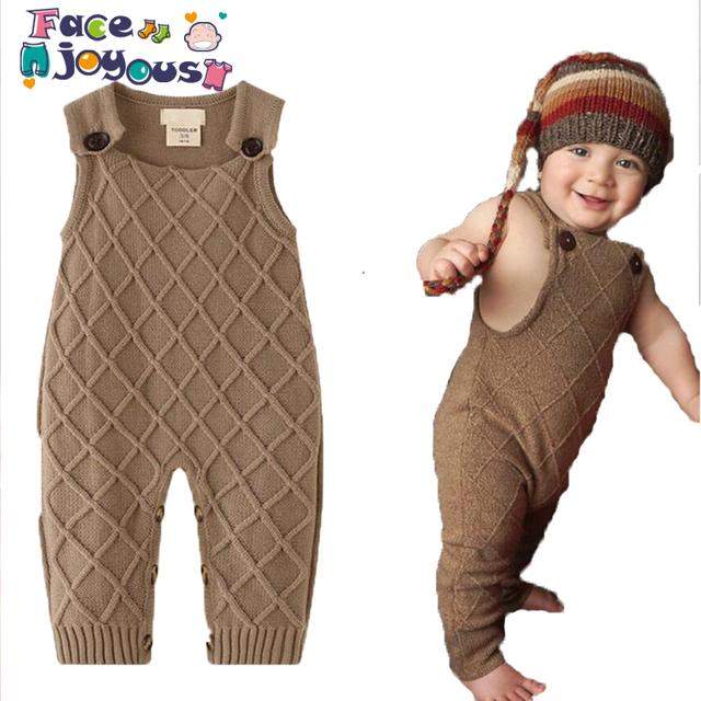 c051cf22de1d New 2019 Spring Winter Baby Boys Knitted Romper Sleeveless Cotton ...