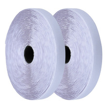 2 Rolls 2cm 25m White Hook and Loop Self Adhesive Magic Tape Fastener Strong Strip adhesive