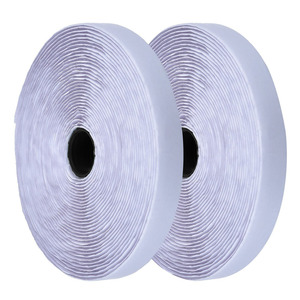 2 Rolls 2cm 25m White Hook and