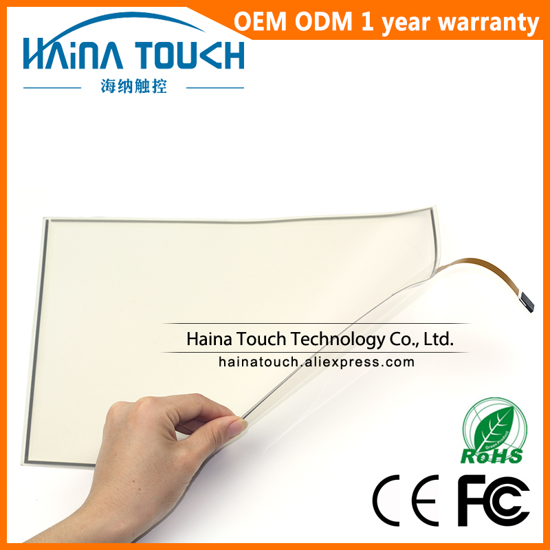 Win10 Compatible Flexible Industrial Touch Film 18.5 USB touch screen, 4 wire resistive USB touch screen 4 wire industrial touch screen for amt9102 amt 9102