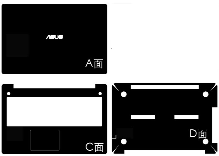 Carbon fiber Vinyl Skin Stickers Cover guard For ASUS N550 N550J N550JX N550JK 15.6-inch