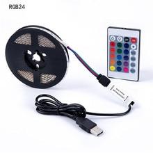 USB Powered DC 5 V LED Strip licht 2835 RGB/Wit/Warm wit Waterdichte Tape LED Lamp 50 CM 1 M 2 M TV Achtergrond verlichting все цены
