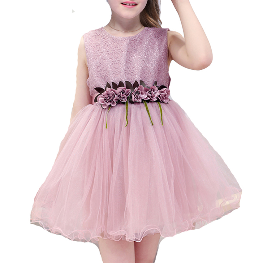 Girls Dresses 2018 New Baby Kids Flower Wedding Birthday Party Dress Summer Cute Sleeveless Princess Tutu Dress 6 8 10 12 YearsGirls Dresses 2018 New Baby Kids Flower Wedding Birthday Party Dress Summer Cute Sleeveless Princess Tutu Dress 6 8 10 12 Years