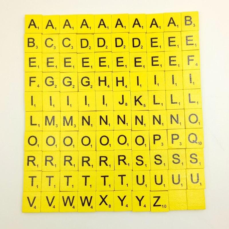Милый подарок 100 шт. деревянный scrabble Плитки черные буквы Номера для Ремесла Дерево алфавитов 28s7110 Перевозка груза падения