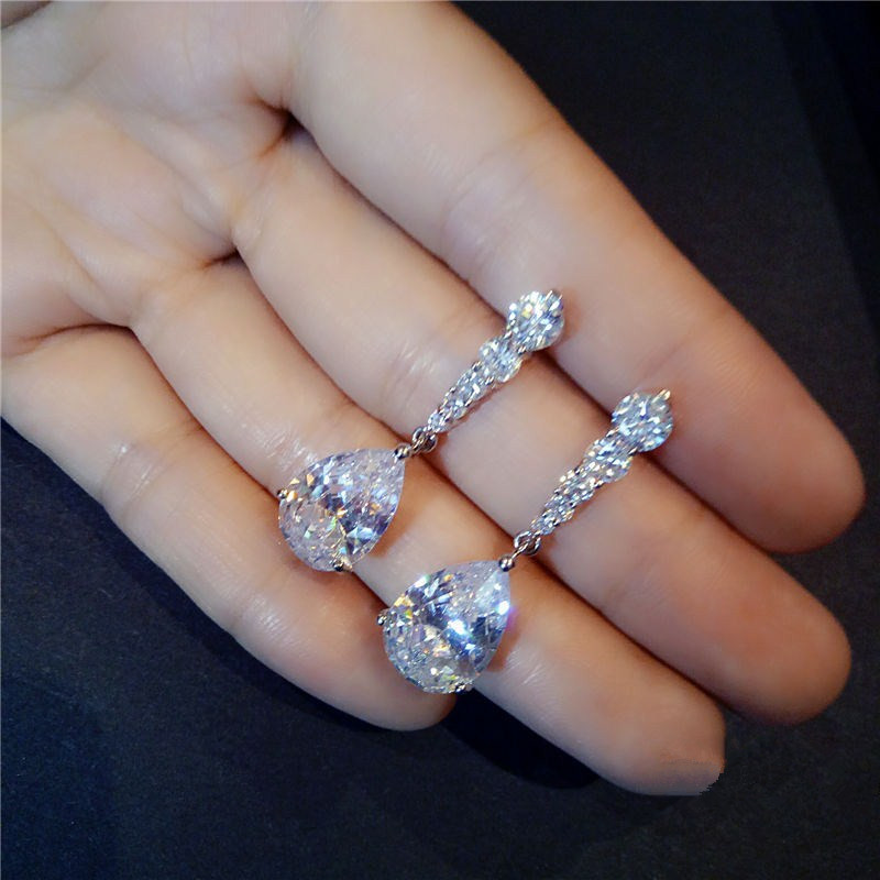 Drop Earrings For Women S925 Sterling Silver Topaz Long Brincos Temperament Simple Super Flash Luxury Fine Jewelry Wedding Arete обои gaenari arete 81041 1