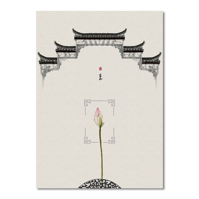 Classic Chinese style Canvas Painting