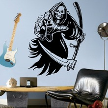 Vinyl Wall Art Decal Removable The Grim Reaper Sticker Decor Home Decoration Room Mural Stickers AY644