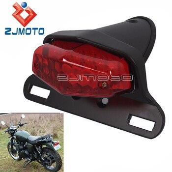 Черный светодиодный задний фонарь для мотоцикла Lucas, стоп-сигнал для Triumph bonneвилl BSA Norton