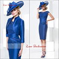 New Elegant Sheath Mother of the Bride Wedding Pant Suit Knee-Length Mother of The Bride Dresses With Jacket Mother Dresses