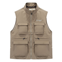 Fishing Vest Men Summer Traveler Sleeveless Jackets Waistcoat Outdoors Casual Vest With Many Pockets Work Vest Photographer