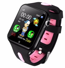 Kids Watch Smart With Camera Facebook Emergency Security Anti Lost SOS For Android Phone Waterproof Baby Clocks SIM(China)