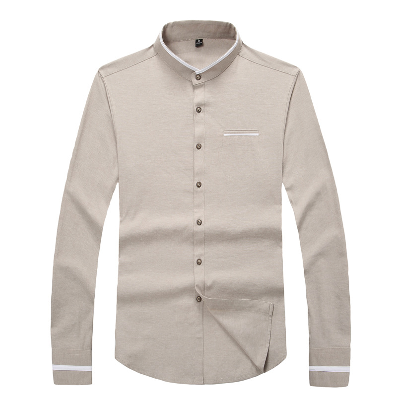 new 2016 fashion men dress shirts high end long sleeve men