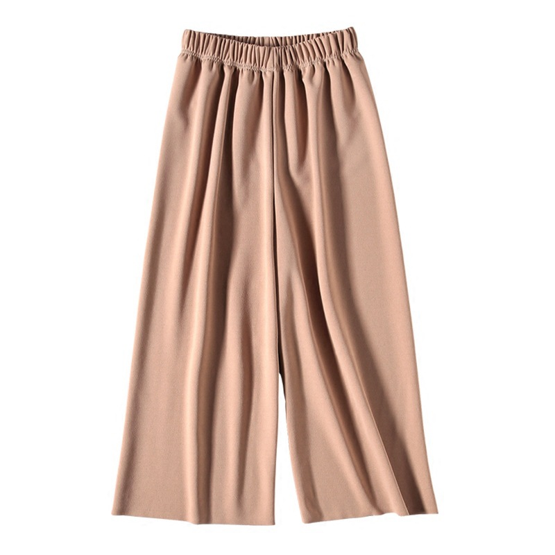 S-3XL Trousers for Women High Waist   Wide     Leg     Pants   Female Casual Palazzo Bottoms Calf-Length   Pants   Korean Summer Autumn